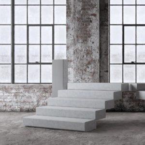 Bild på terrängtrappa typ Blocksteg